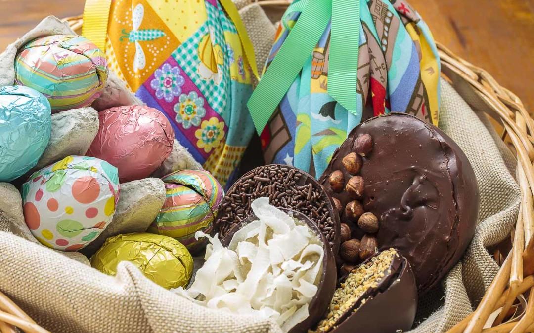 Ovos artesanais para a páscoa
