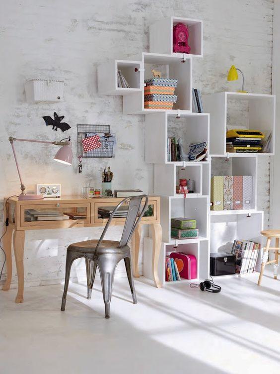 caixas e arquivos home office