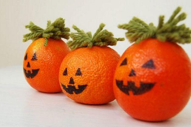Decoração halloween laranjas